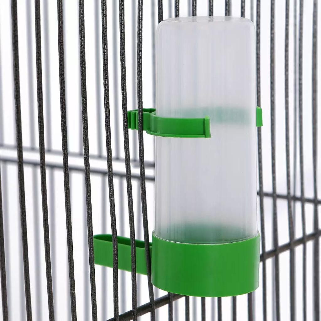 Fågelbur svart 54x54x146 cm stål