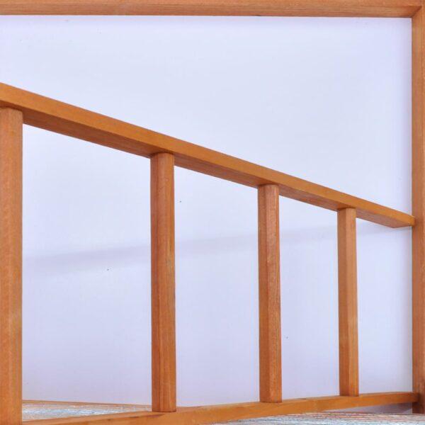 Fågelbur trä 65x63x165 cm