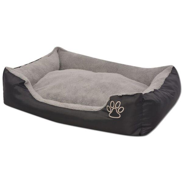 Hundbädd med vadderad kudde storlek M svart