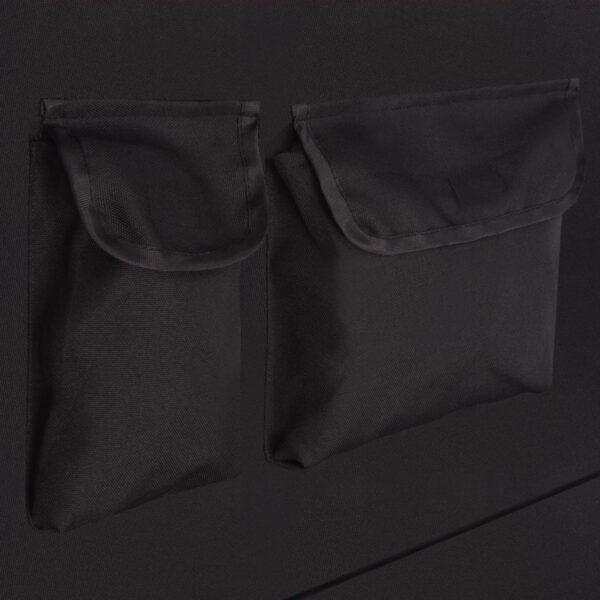 Baksätesskydd för husdjur 148x142 cm svart