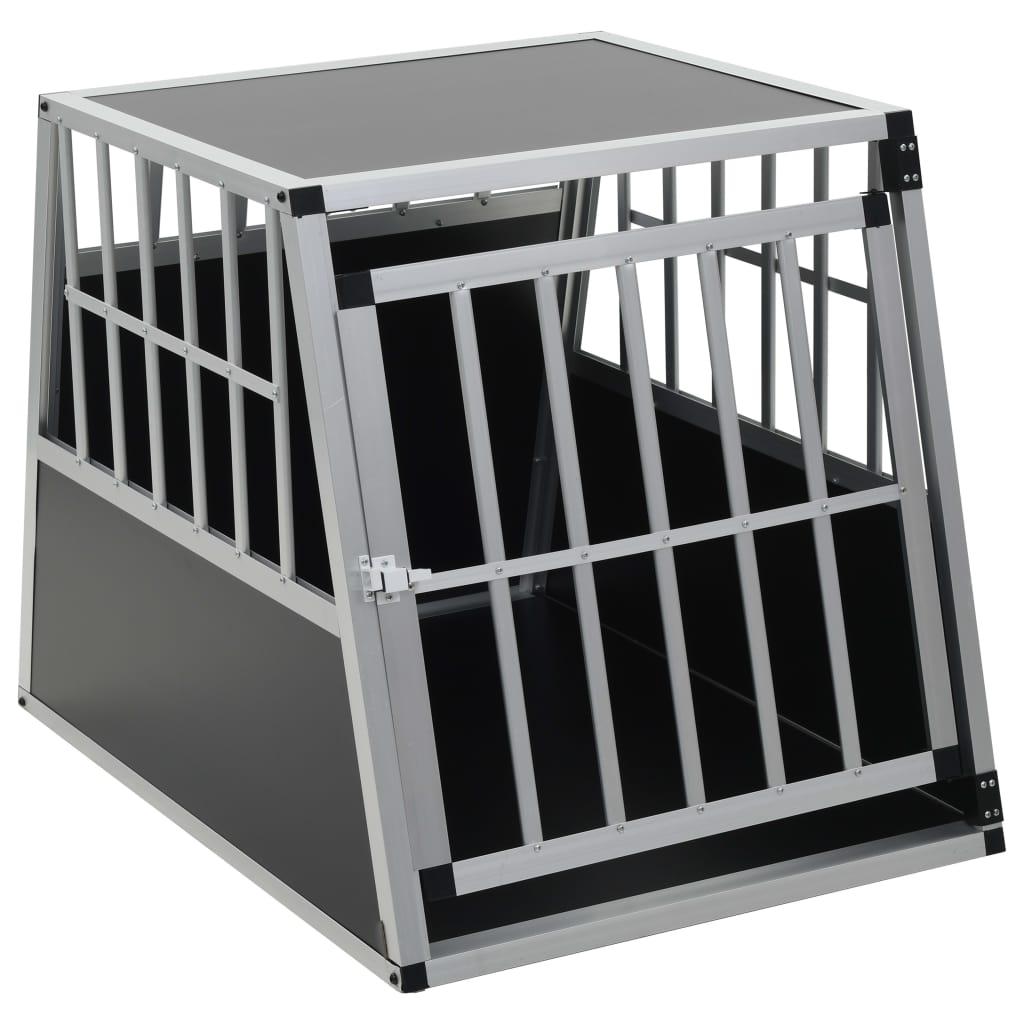 Hundbur med enkel dörr 65x91x69,5 cm