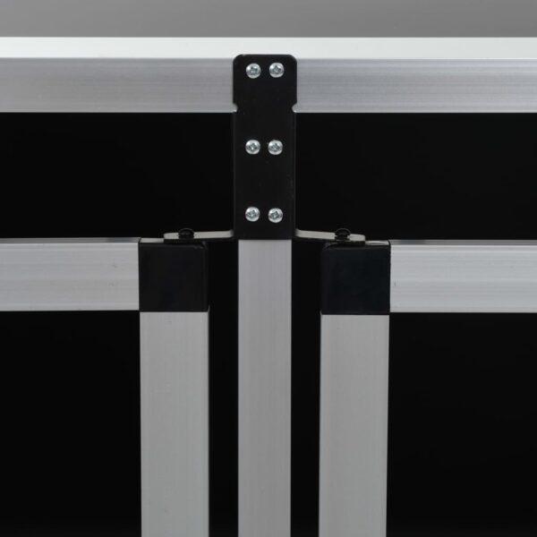 Hundbur med dubbel dörr 94x88x69 cm