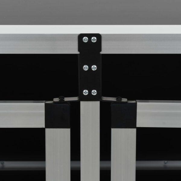 Hundbur med dubbel dörr 89x69x50 cm