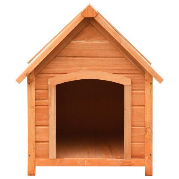 Hundkoja massiv furu & granträ 72x85x82 cm