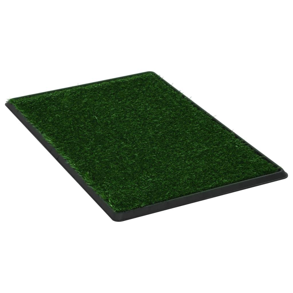 Djurtoalett med tråg & konstgräs grön 76x51x3 cm WC