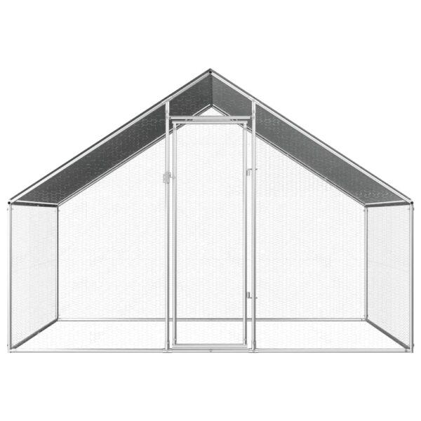 Hönsbur för utomhusbruk 2,75x2x1,92 m galvaniserat stål