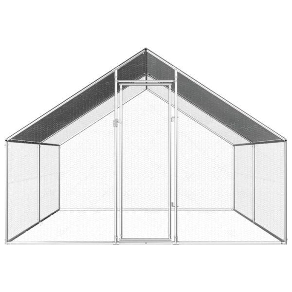 Hönsbur för utomhusbruk 2,75x4x1,92 m galvaniserat stål