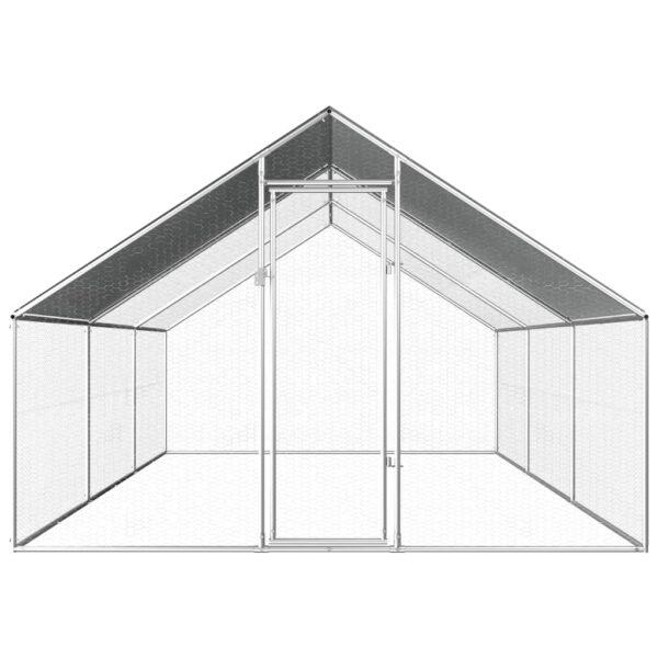 Hönsbur för utomhusbruk 2,75x6x1,92 m galvaniserat stål