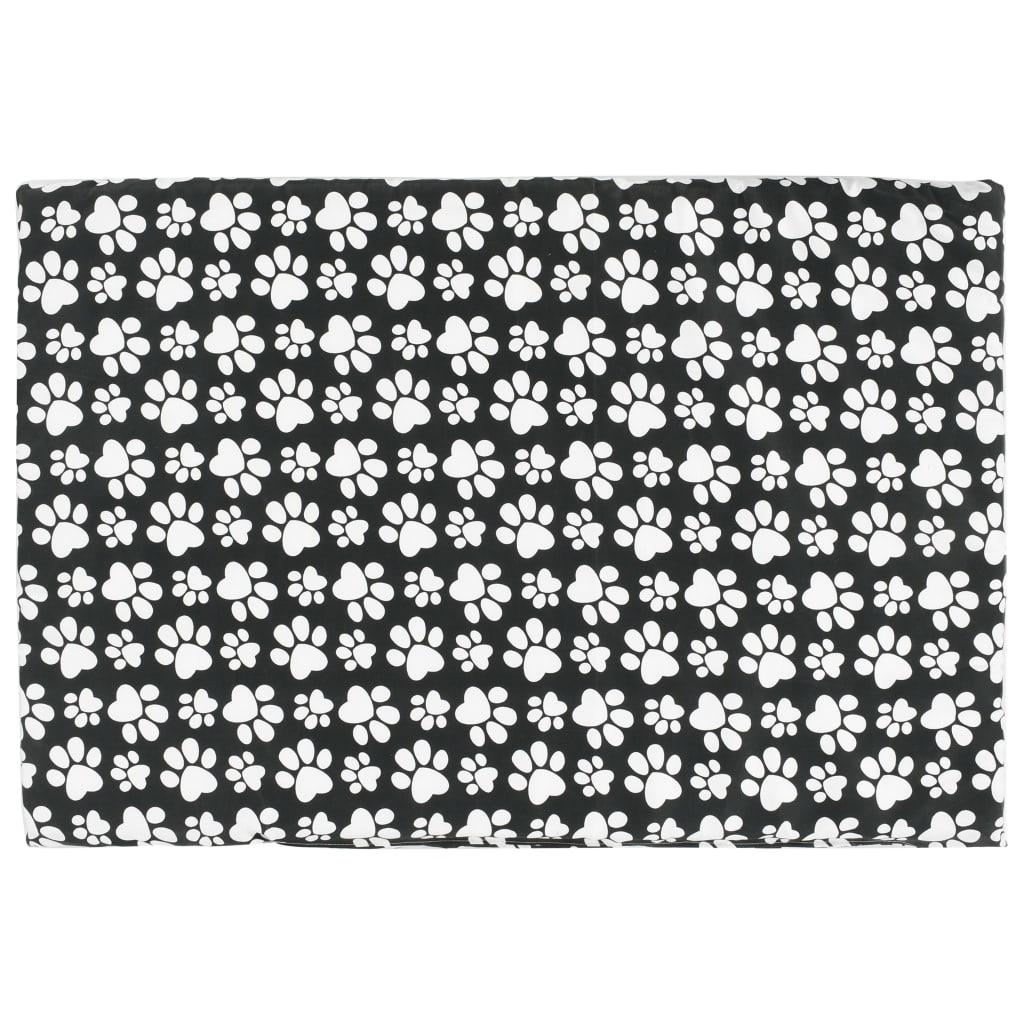 Hundbädd med dyna grå 110x75x15 cm naturlig pil platt design