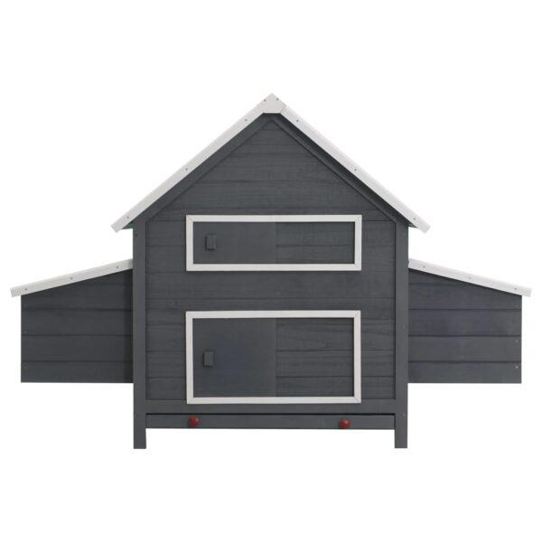 Hönshus grå 157x97x110 cm trä