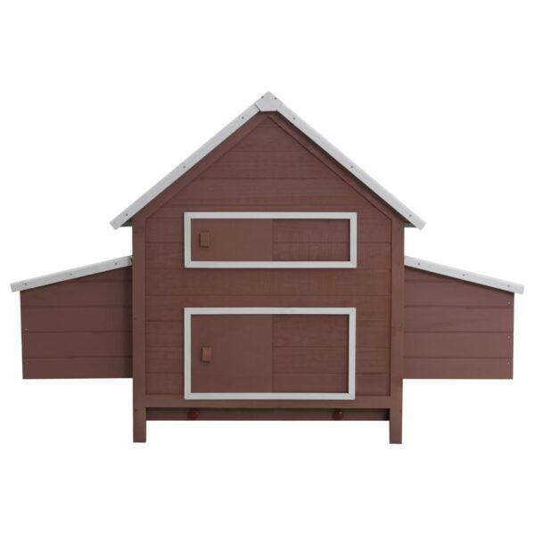 Hönshus brun 157x97x110 cm trä