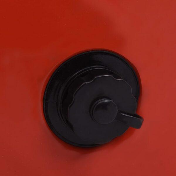 Hopfällbar hundpool röd 80x20 cm PVC