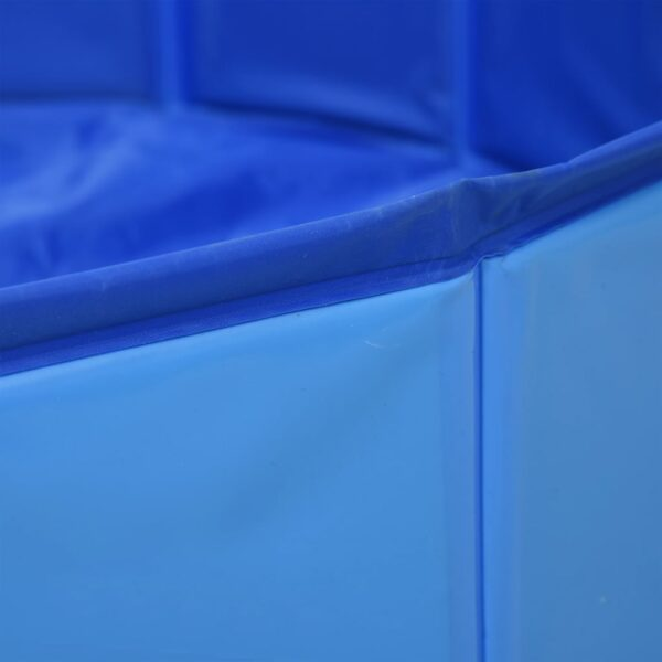 Hopfällbar hundpool blå 80x20 cm PVC