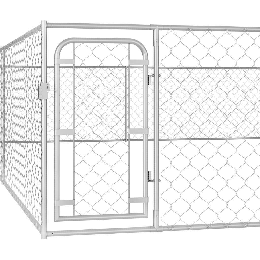 Hundgård för utomhusbruk galvaniserat stål 6x6x1 m